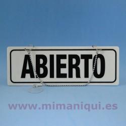 Cartel de Abierto-Cerrado