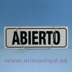Cartel de Cerrado-Abierto