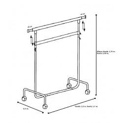 Penjador 100 cm. regulable i doble barra.