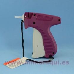 Pistola de etiquetado de agulla fina.