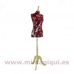 Busto de señora estampado rojo