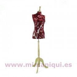 Busto de senhora carimbar vermelho