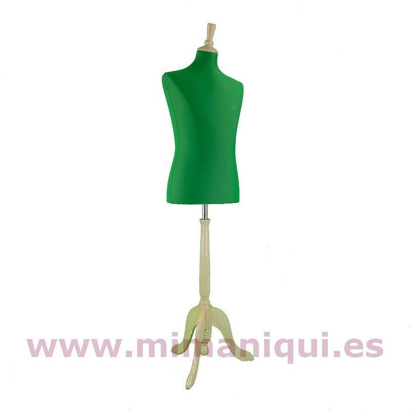 Busto de caballero liso verde billar