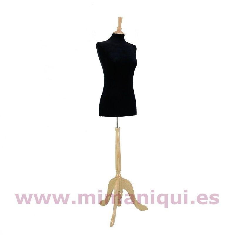 Busto de señora en terciopelo  negro