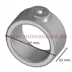 Brida circular per penjadors i prestatgeries.