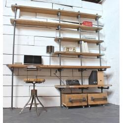 Soporta estante doble para percheros y estanterías.