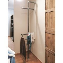 Soporta estante sencillo para percheros y estanterías.