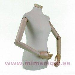 Busto de señora con brazos articulados