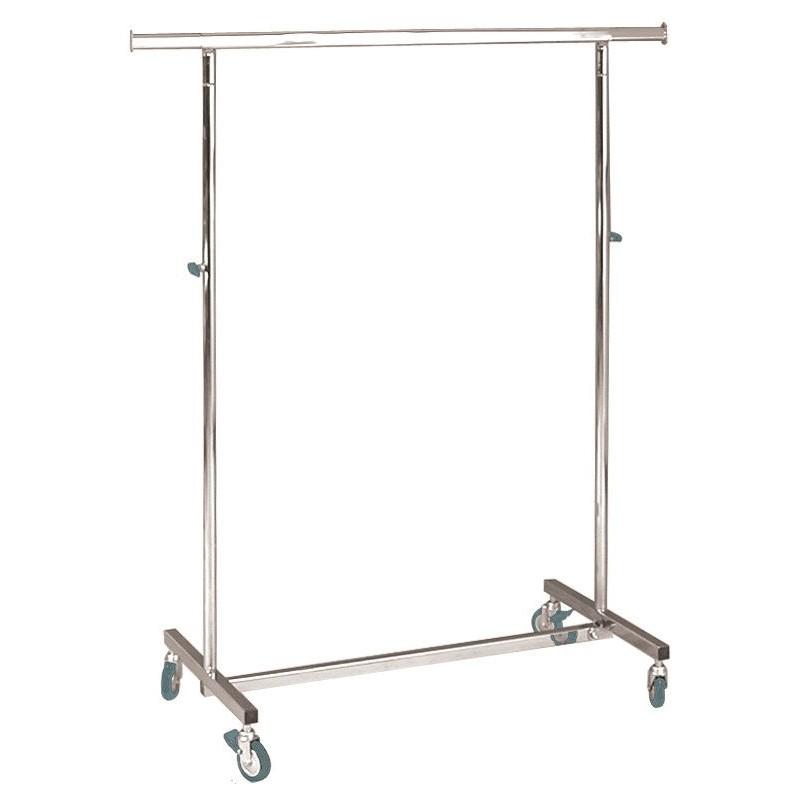 Perchero de 100 cm para cargas pesadas, plegable, de altura regulable.