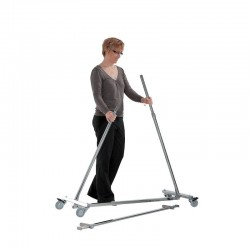 Colgador 100 cm, plegable, altura axustable para cargas pesadas.