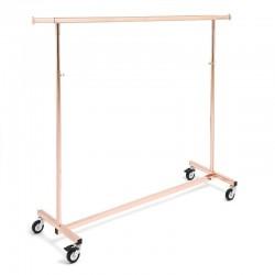 Perchero serie Ottonato ouro rosa de 140 cm.