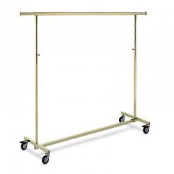 Cabideiro série Ottonato dourado de 140 cm.