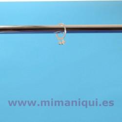 Anel de metal para cabide anti-roubo.