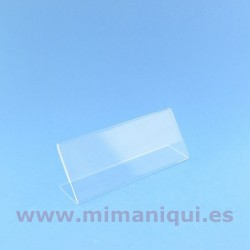 Portaprecio de metacrilat 150 x 60 mm.
