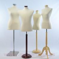 Bustos de manequins e manequins costureira