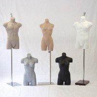 Expositores torsos e pernas lingerie e moda praia